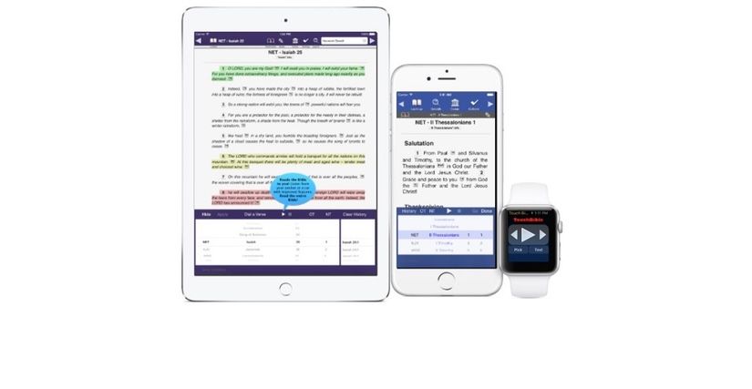 Touch Bible (3.5.1) Updated for iPad and Apple Watch for iOS 9