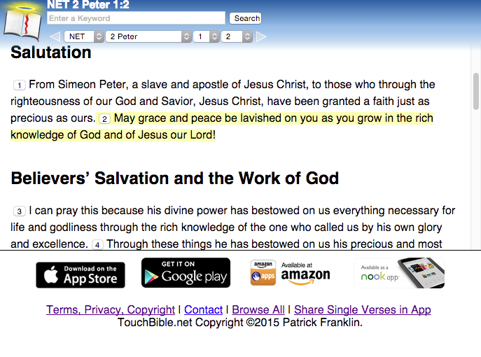 Use Touch Bible Online