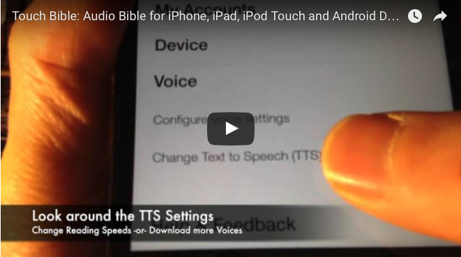 Audio Bible for iPhone, iPad, iPod Touch and Android Devices