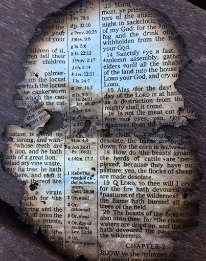 Community Feels Chills From a Bible Passage that Survived the Smokey Mountain Fires